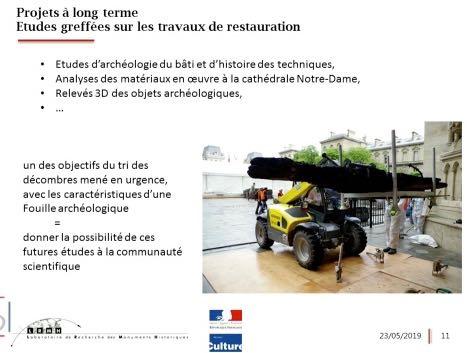 23/05/19 – Audition plénière – Apports des sciences et technologies à la restauration de Notre-Dame de Paris